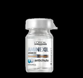 L'ORÉAL Aminexil Advanced - professzionális kezelés vékony szálú hajra (10 * 6 ml ampulla)